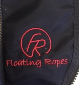 Floating rope embroider logo